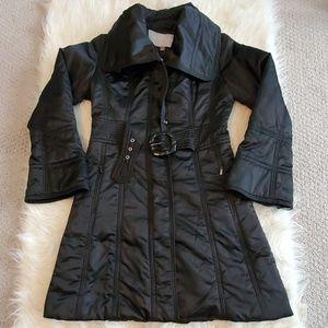 Worn Twice! Black Jessica Simpson Coat Trench Sz M